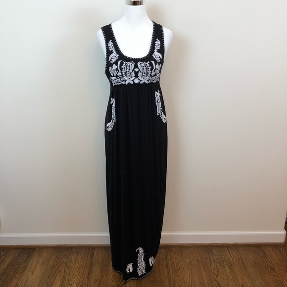 Chelsea Theodore Dresses Chelsea Theodore Embroidered Maxi Dress